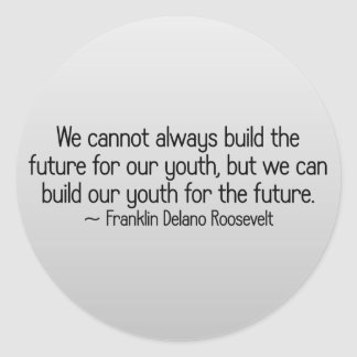 Building youth for the future stickers