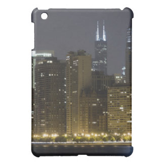 Buildings along the Chicago lakefront at night, iPad Mini Case