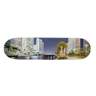 Buildings along the Miami River Riverwalk Skate Board Deck