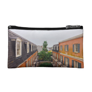 Buildings and Palm Trees in New Orleans Cosmetic Bag