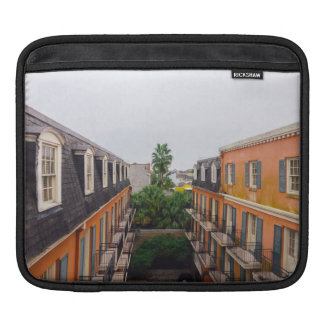 Buildings and Palm Trees in New Orleans iPad Sleeve