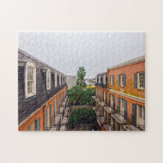 Buildings and Palm Trees in New Orleans Jigsaw Puzzle