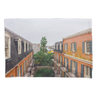 Buildings and Palm Trees in New Orleans Pillowcase