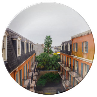 Buildings and Palm Trees in New Orleans Plate