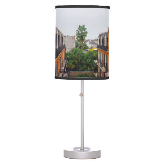 Buildings and Palm Trees in New Orleans Table Lamp