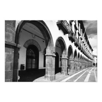 Buildings with arches photo print