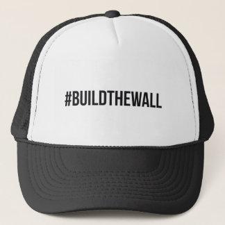 #BuildTheWall Build the Wall MAGA Trump Hashtag US Trucker Hat