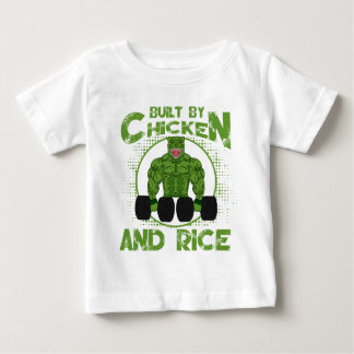Built By Chicken And Rice bodybuilding fitness Baby T-Shirt