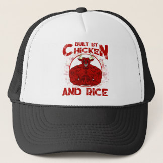 Built By Chicken And Rice bodybuilding fitness Trucker Hat