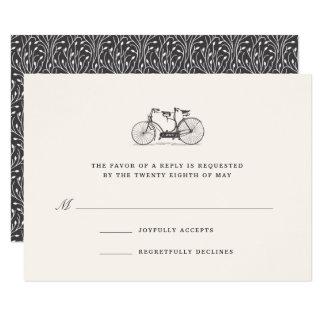 Built for Two   Vintage Tandem Bicycle RSVP Card