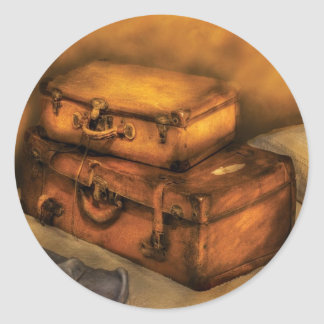 Buisness Man - Packed Suitcases Round Stickers