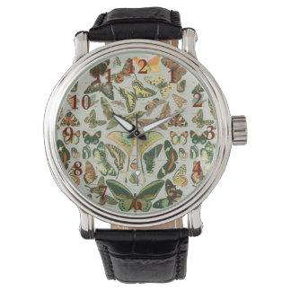 Buitterfly pattern watch