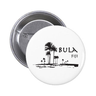 Bula Fiji Palm Tree Graphic 2 Inch Round Button