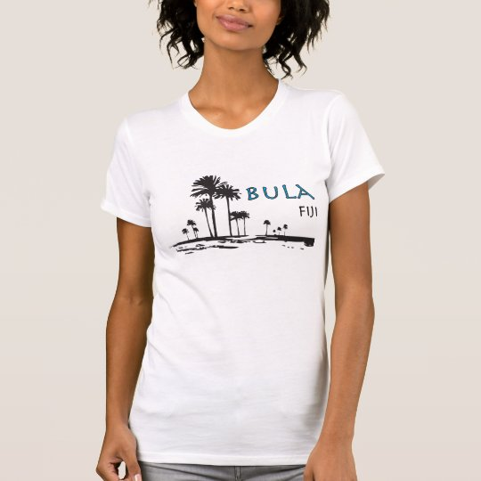 Bula Fiji Palm Tree Graphic T-Shirt