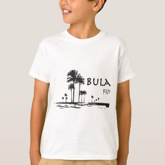 Bula Fiji Palm Tree Graphic T-Shirt