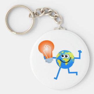 Bulb Globe Keychain