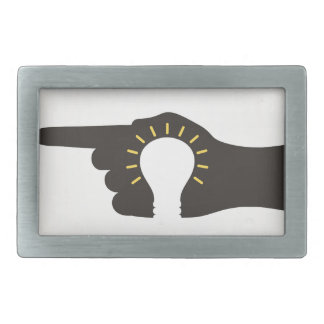 Bulb in a hand belt buckle