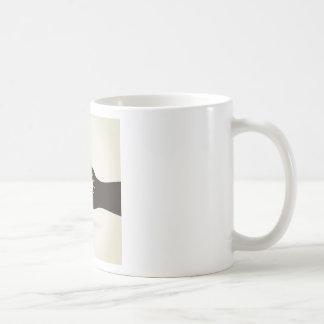 Bulb in a hand coffee mug