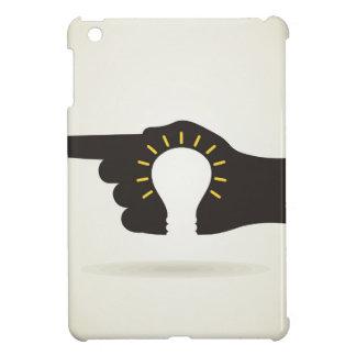 Bulb in a hand iPad mini cover