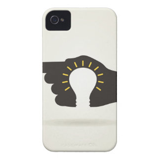 Bulb in a hand iPhone 4 cases