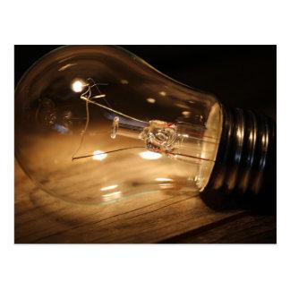 Bulb -  Wood Postcard