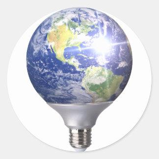 Bulb World Classic Round Sticker