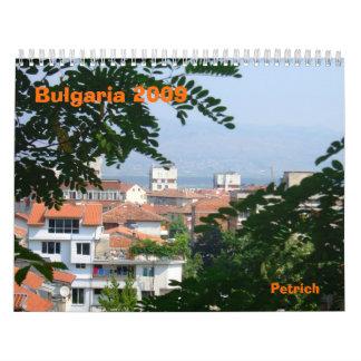 Bulgaria 2009 wall calendar