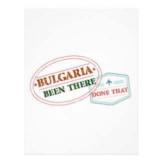 Bulgaria Been There Done That Letterhead Template