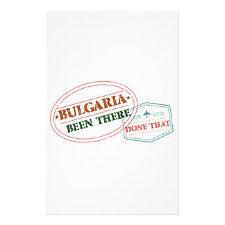 Bulgaria Been There Done That Stationery Design