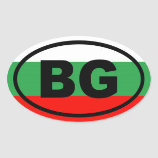 Bulgaria - BG - European Oval Sticker