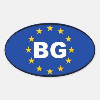 Bulgaria - BG - European Union Oval Stickers