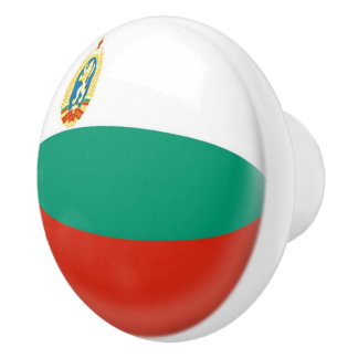 Bulgaria Bulgarian Flag Ceramic Knob