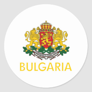 Bulgaria Coat of Arms Classic Round Sticker
