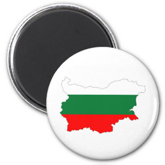bulgaria country flag map shape silhouette symbol magnet
