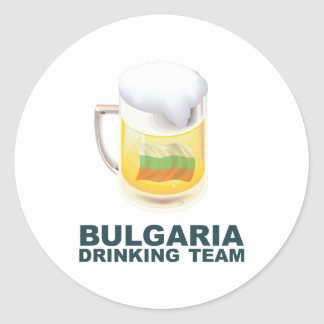 Bulgaria Drinking Team Classic Round Sticker