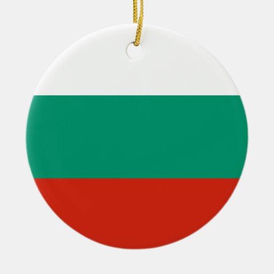 Bulgaria Flag Ceramic Ornament