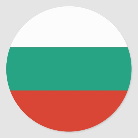 Bulgaria Flag Classic Round Sticker