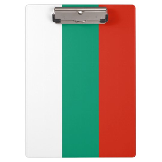 Bulgaria Flag Clipboard