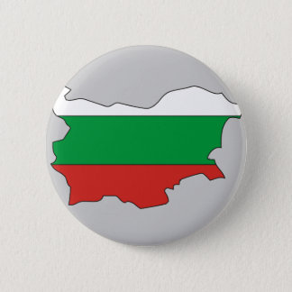 Bulgaria flag map 2 inch round button