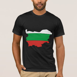 Bulgaria Flag Map full size T-Shirt
