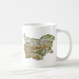 Bulgaria Flag ~ Map Mug