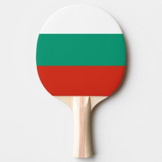 Bulgaria Flag Ping Pong Paddle