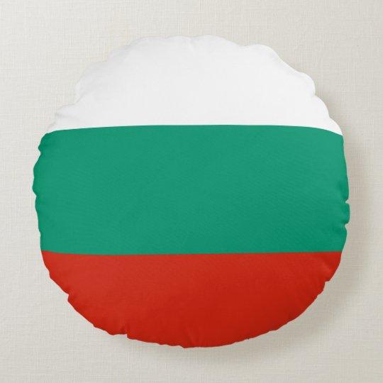 Bulgaria Flag Round Pillow