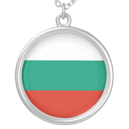 Bulgaria Flag Silver Plated Necklace