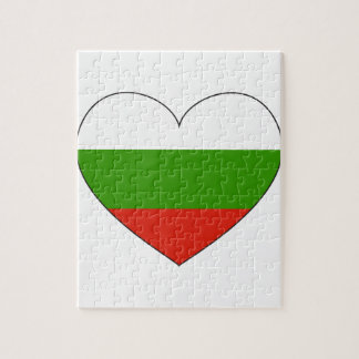 Bulgaria Flag Simple Puzzles