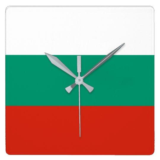 Bulgaria Flag Square Wall Clock