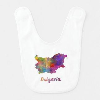 Bulgaria in watercolor bibs