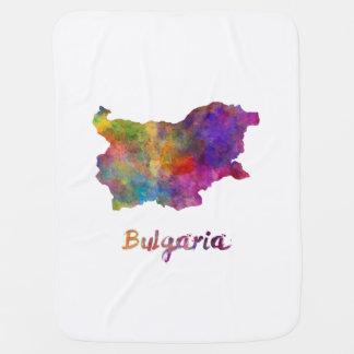 Bulgaria in watercolor stroller blanket