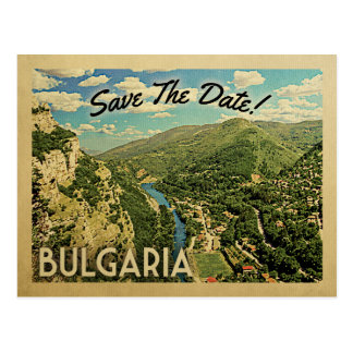 Bulgaria Save The Date Bulgarian Postcard