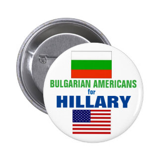 Bulgarian Americans for Hillary 2016 2 Inch Round Button